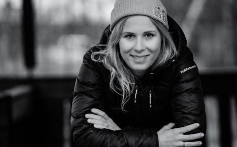 Matilda Rapaport in Abisko, Lappland, Sweden